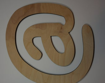 Silhouette of the @ symbol cutout