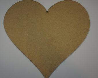 Silhouette heart cutout