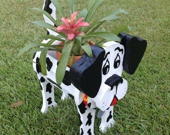 Wooden Animal Planter - Dalmatian
