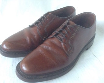 Bostonian Crown Windsor Plain Toe Brown Lthr Blucher Oxfords~10 1/2 C