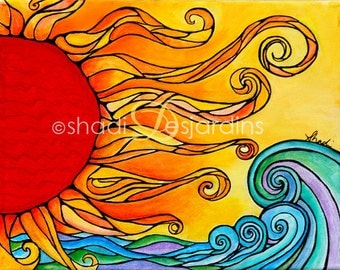 "Fine Art Painting Print of ""Enlightened"" by Shadi Desjardins"