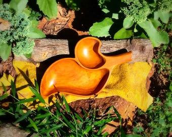 Retro Wooden Leaf Bowl