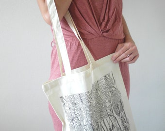 "Printed Tote Bag ""Jungle"""