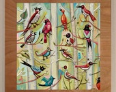 Birds of Haw Creek - hand finished print
