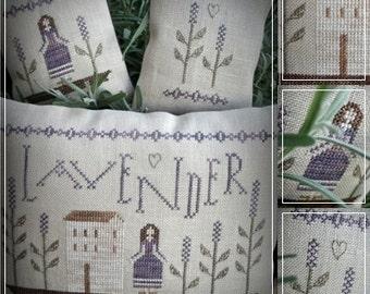 Lavender Rosie / Primitive cross stitch pattern