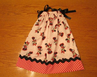 Minnie Mouse Pillowcase Dress - Size 18 to 24 months