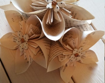 Paper Book Flowers