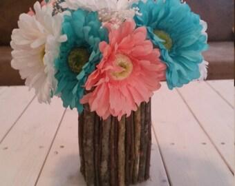 twig flower holder