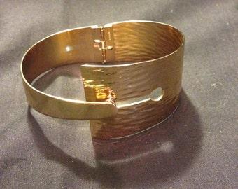 Gorgeous 1970 Vintage Gold Cuff