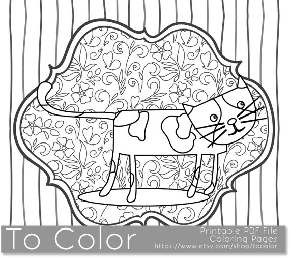 grown up coloring pages cats - photo#44