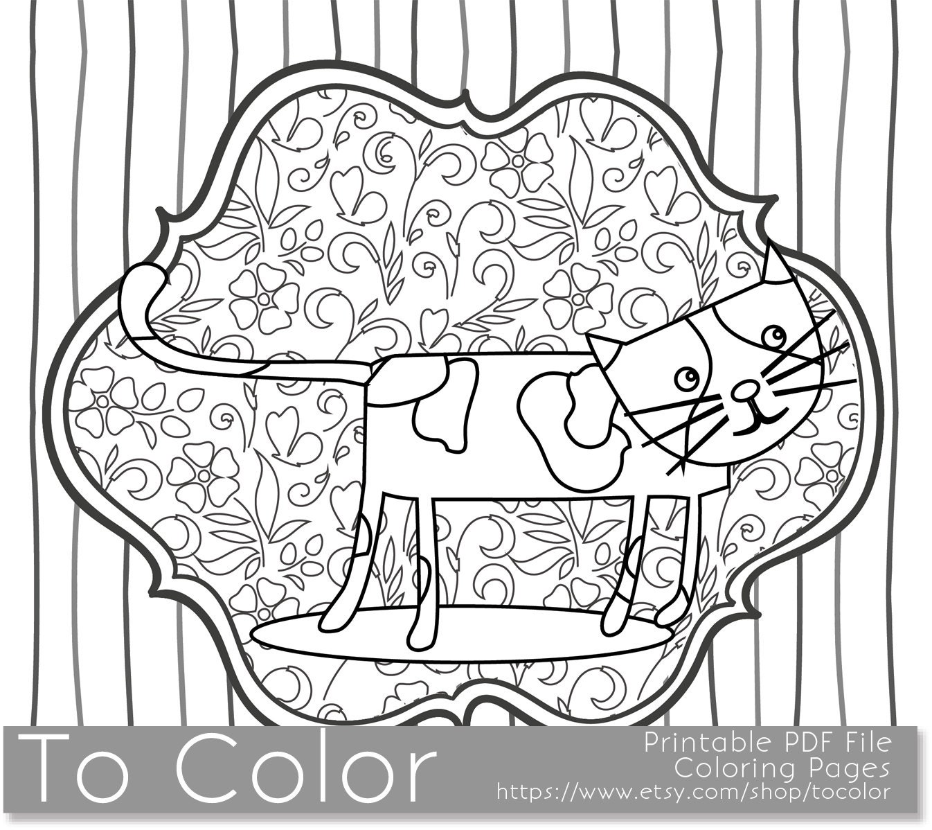 whimsical flower coloring pages - photo#29