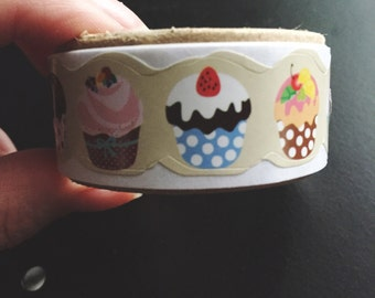 Cute Cupcake Washi Tape Sticker Roll