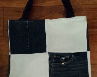 Upcycled Shopping Tote Bag