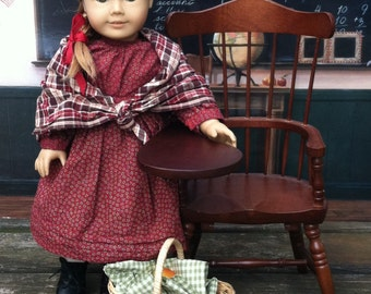 Repro: Kirsten's School Dress and Shawl, American Girl Kirsten, American Girl Dress