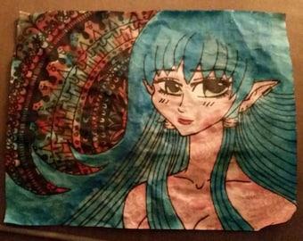 Psychedelic Anime Goddess