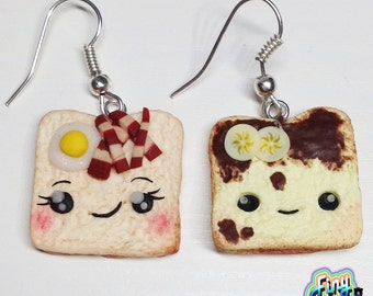 Earrings kawaii Breakfast