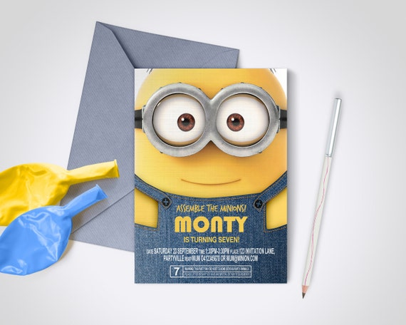 Minion party invite edit and print as many copies as you minion party invite edit and print as many copies as you like despicable me minions diy party invite stopboris Images