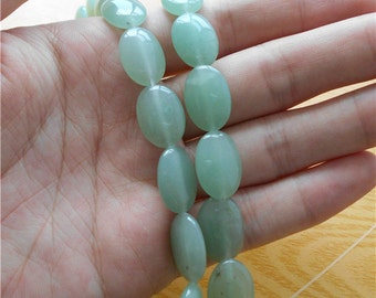 10 pc - Nature stone Aventurine Jade Bead - 13x18mm