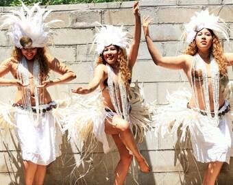 Tahitian Hula Polynesian Hawaiian Dance Costume