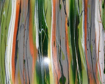 Original abstract acrylic painting on canvas Green with Envy II