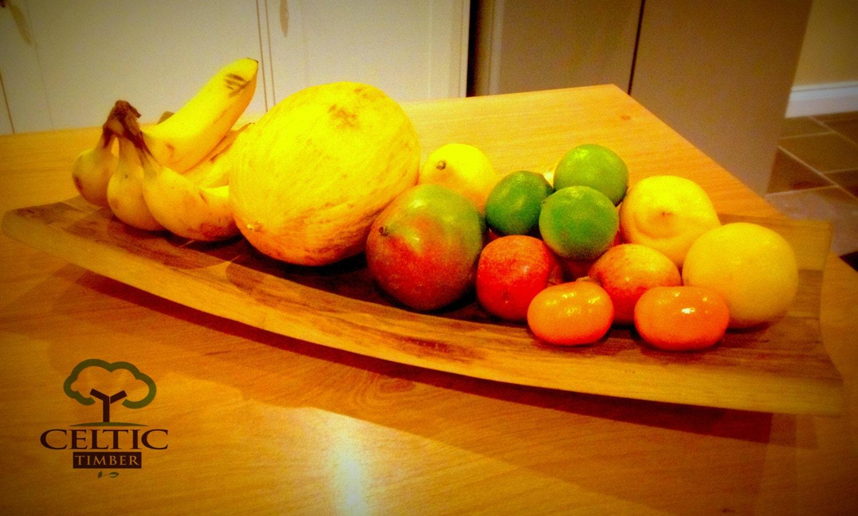 Fruit Bowl Made From Oak Wine Barrel Staves Simple Elegant