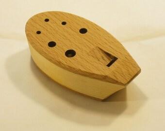 Handmade Wooden Ocarina in D - 8 holes