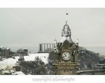 The Balmoral Hotel & Calton Hill, Edinburgh