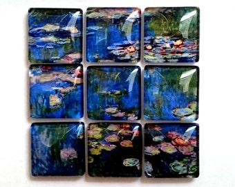 Water Lillies Magnet Mosaic