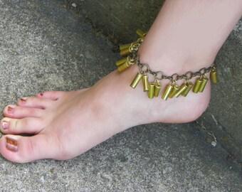 22 cal. Bullet Casing Jingle Anklet