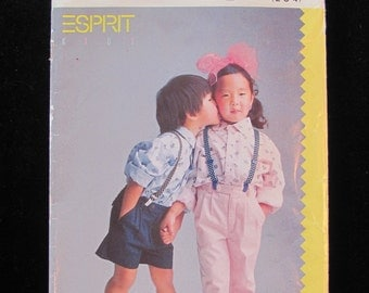 1988 Butterick 6025 Shirt Zip Fly Pants Shorts Toddler Size 2 3 4 Child UNCUT