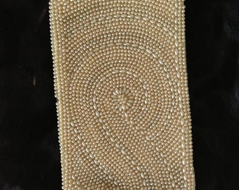 Clutch with thousand pearls, great for special occasion, Evening Clutch, Party Clutch, Small Pearls Clutch, Dinner Purse.