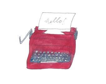 Type Writer Greetings Card