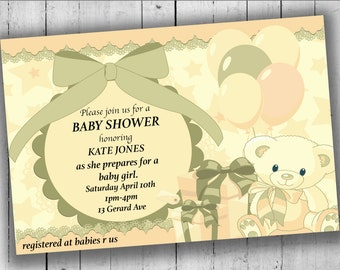Baby Shower Invitation, Printable Party Invitation, Baby Shower Party, Party Invites, Baby Shower Invites - ANY GENDER