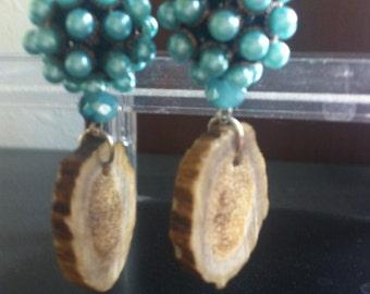 Bubble Bead Anterl Earrings
