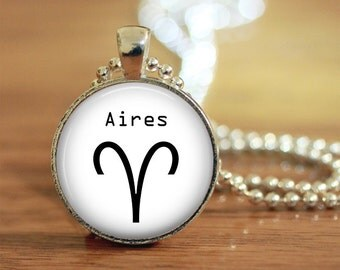 Aires Pendant, Aires Keychain, Aires Necklace, Aires Jewelry, Zodiac Necklace, Zodiac Jewelry, Zodiac Keychain, Aires, Zodiac