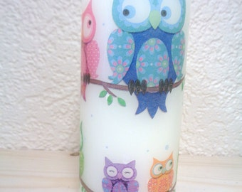 white owl candle