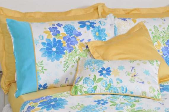floral dorm bedding in twin twin xl size ocean by rosehomedecor. Black Bedroom Furniture Sets. Home Design Ideas