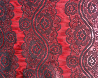 silk jersey fabric bonbed with lace