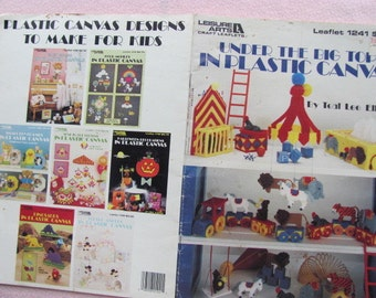 Plastic Canvas Under The Big Top Leisure Arts leaflet 1241