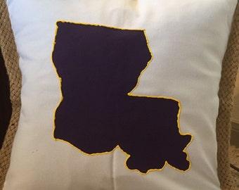State of Louisiana Pillow Case- LSU