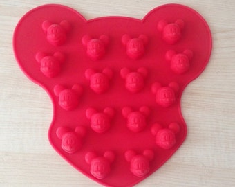 DIY Chocolate Mold Silicone Mold 16-Mickey Mouse Candy mould Fimo Resin Crafts fondant molds resin jewelry mold resin ring mold ice mold