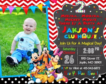 Mickey Mouse Clubhouse Invitation Birthday - Mickey Mouse Clubhouse Party