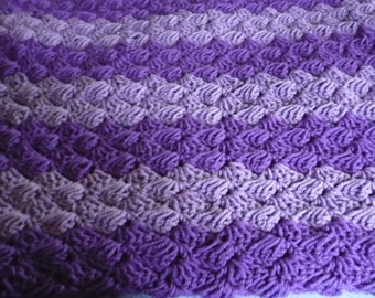 Purple Crochet Afghan