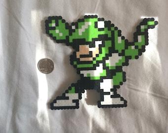 """Perler Beads: Snakeman from, """"Megaman 3."""""""