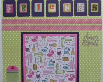 "Friends 12x12"" Premade Scrapbook Page"