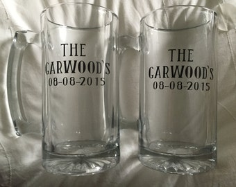 Personalized Glass Beer Mug