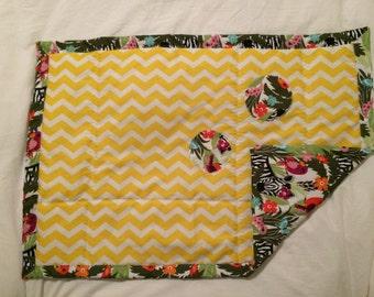 MaHERO Baby quilt/blanket - JUNGLE ANIMALS - baby minky,newborn baby blanket, baby shower gift by MaHERO
