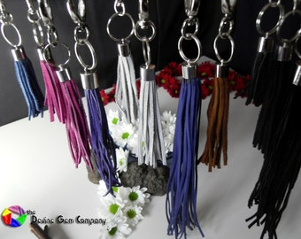 Suede and Faux Suede Handbag Charm or Keyring