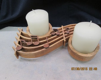 MusicNote Scrollsaw Votive Candle Holder