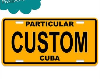 Personalized Cuba Decorative License Plates - Chapa Cuba